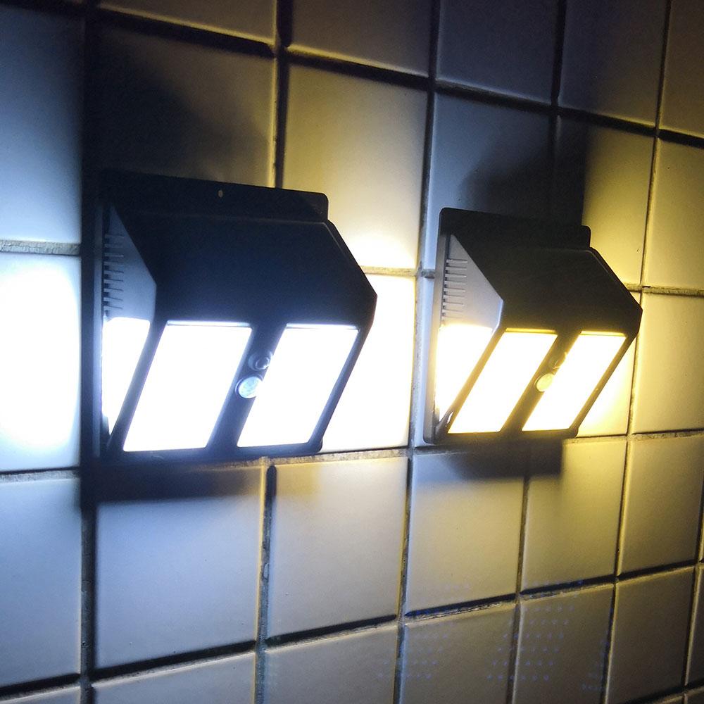146leds Outdoor led solar garden light waterproof IP65 sense light Infrared sensors lamp outdoor fence garden pathway wall light