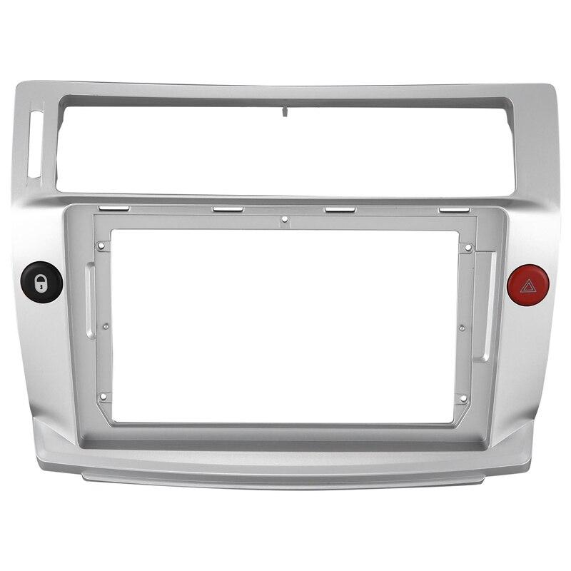 2 Din Car Radio Face Plate Frame for Citroen C-Quatre 2004-2009 Car DVD GPS Player Panel Dash Mount