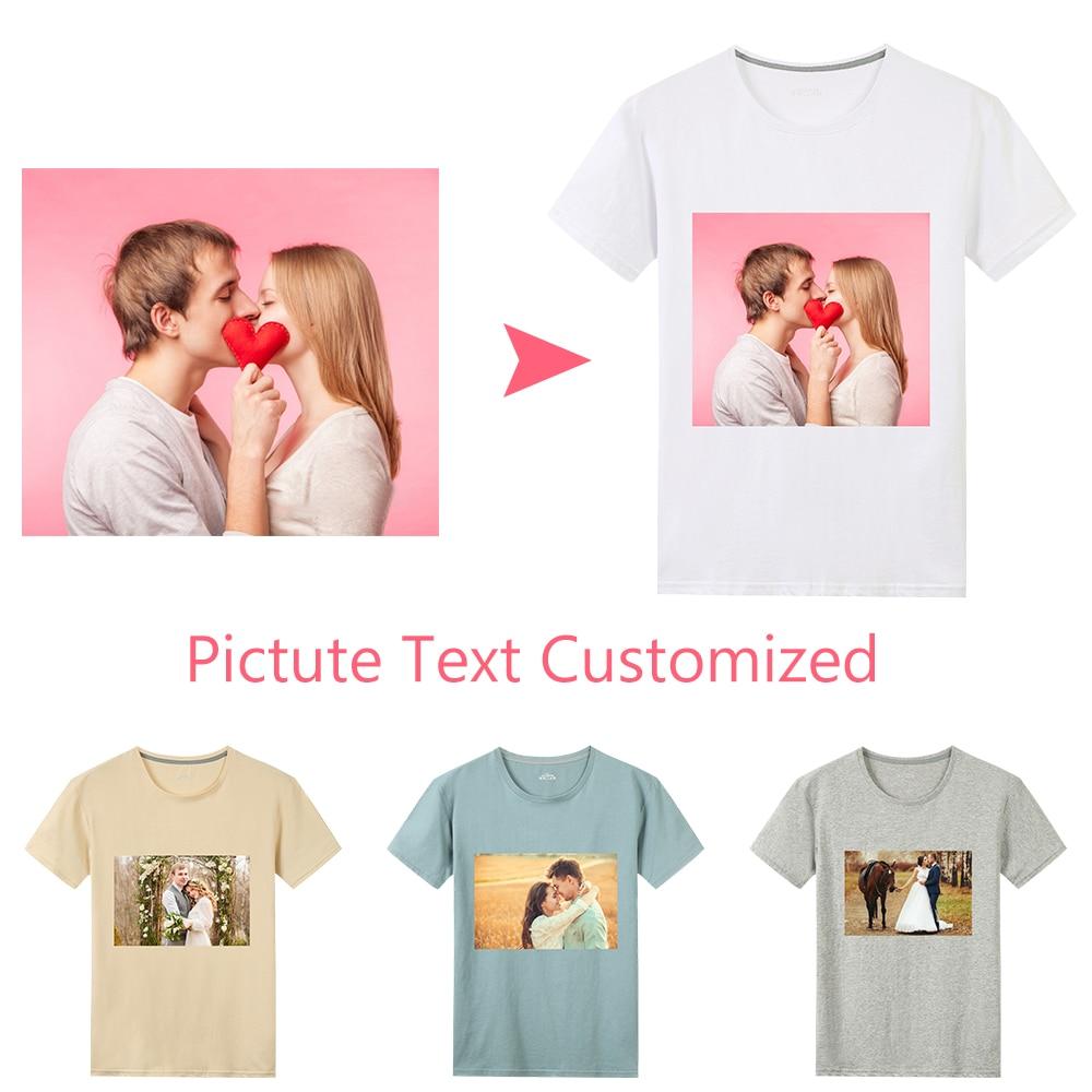 TTLIFE Free Customized T Shirt Women's Girl DIY Photo Logo Brand Printed T-shirt Men Clothes Casual Normcore Minimalist Hip Hop