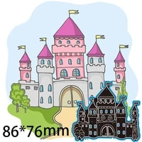 cutting dies castle palace decorate diy scrap booking photo album embossing paper cards 8676mm