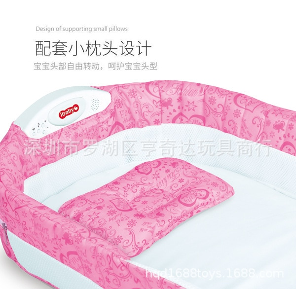 Baby's Bed Portable Foldable Travel Bed with Light Music Ibaby Baby Multi-function Baby Crib Multi-function enlarge