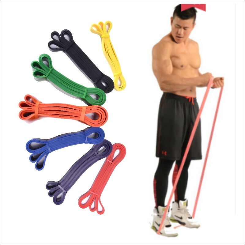 Resistance Bands 208cm Fitness Rubber Bands Unisex Yoga Elastic Bands Loop Gym Expander Workout For Exercise Sports Equipment