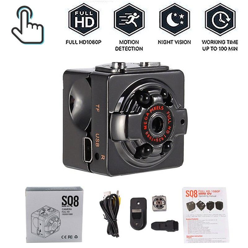 SQ8 Mini Kamera 1080P Micro Outdoor Kamera Sport Video HD Kamera Nachtsicht Wireless Körper DVR DV Tiny Bewegung sensor Minikamera