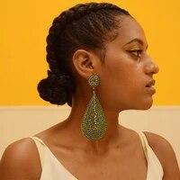 12 6cm heavy process party wearing ear clip big waterdrop crystal earrings for women rhinestone dangle earring wedding jewelry