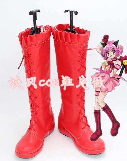 Tokyo Mew botas Anime japonés Momomiya Ichigo Cosplay zapatos