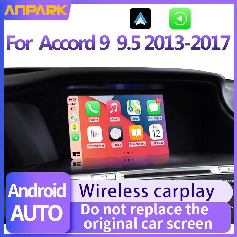 Автомобильный медиаплеер для Honda Accord 9 9,5, 2013, 2014, 2016, 2017, беспроводное воспроизведение автомобиля Android, Bluetooth-телефоны, музыка
