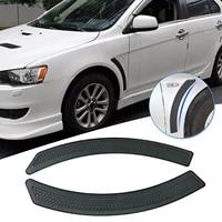 2pcs door car fender flare vent sticker for mitsubishi lancer evo 2008 2009 10 11 2015 spoiler waterproof durable product