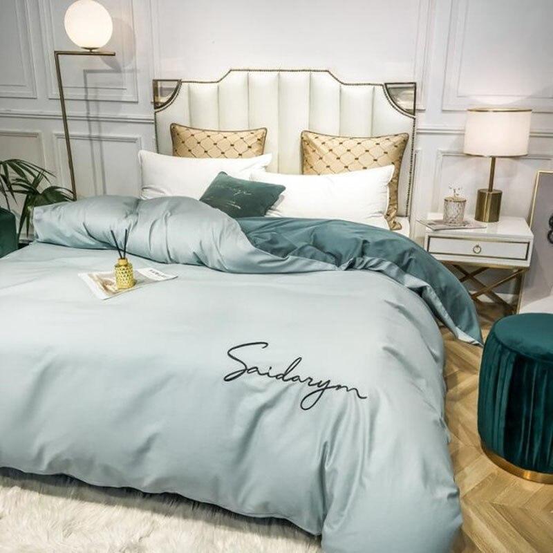 لون نقي ضوء الفاخرة حاف الغطاء 100% القطن 60 الأقمشة غطاء لحاف واحد 1.8x2.2 متر التوأم حجم غطاء لحاف 240X220