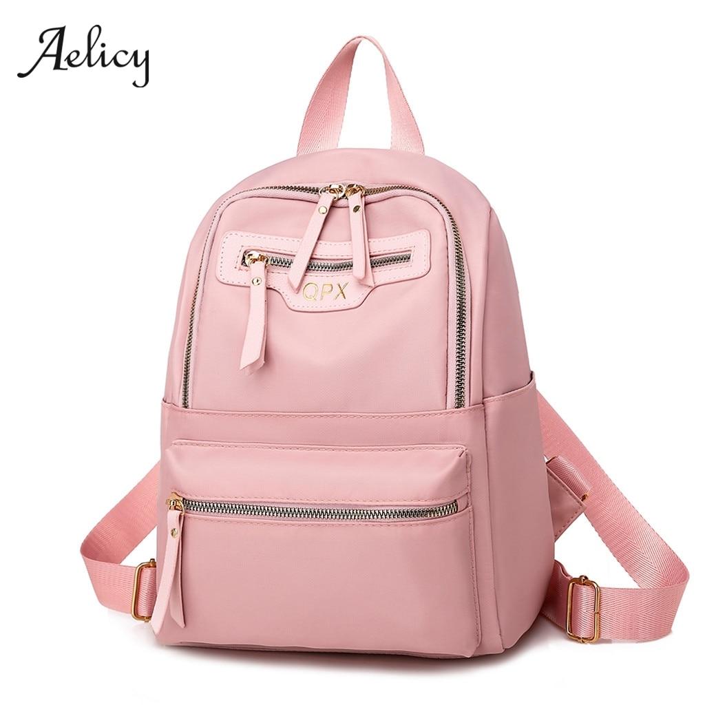 Mochila antirrobo Aelicy para mujer, mochila escolar informal para estudiantes, mochila de nailon para Laptop, mochila de viaje para niñas