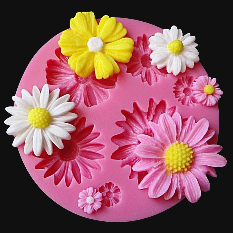 New 3D Flower Silicone Molds Fondant Craft Cake Candy Chocolate Sugarcraft Ice Pastry Baking Tool Mould Soap Mold Cake Decorator