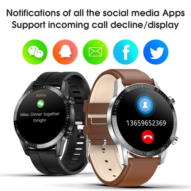 Ipbzhe Smart Watch Men 2021 Android IP68 ECG Smartwatch Men Sports Reloj Inteligente Smart Watch For Phone Iphone Android Huawei 4