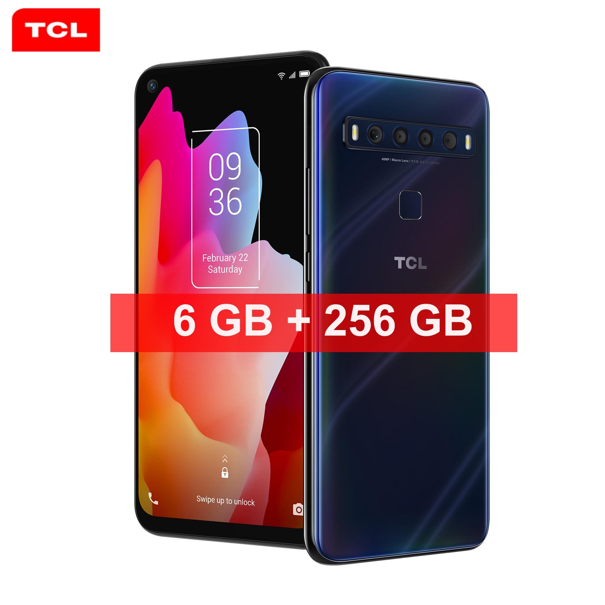 Перейти на Алиэкспресс и купить 2021 TCL 10 Pro Смартфон Android 11,0 полный экран 6 ГБ ОЗУ 256 Гб ПЗУ 4G FDD LTE WiFi аккумулятор 4000 мАч Type C игровой телефон