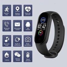 M5 Smart Band IP67 impermeabile Sport Smart Watch uomo donna pressione sanguigna cardiofrequenzimetro braccialetto Fitness per Android IOS