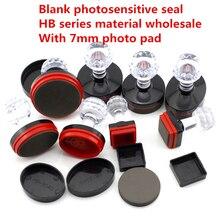5 uds HB7MM sello fotosensible materiales een juego rechthoekige materiaal fotosensible sello materiaal blanco sello al por burgemeester