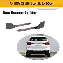 Auto Car Rear Bumper Splitters Lip for BMW X3 G01 M Sport 2018 2019 Rear Bumper Diffuser Lip Splitters Carbon Fiber