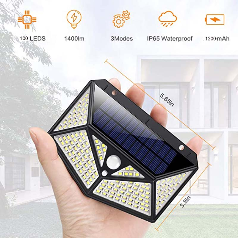 Solar  Led Light outdoor Lamp with Motion Sensor Waterproof  Sunlight Powered for Garden Decoration wall lamps jardim