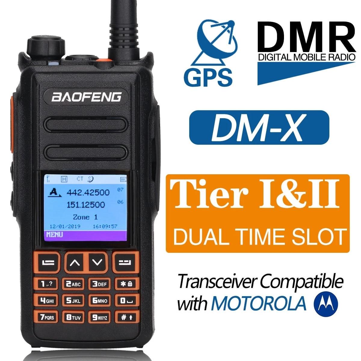 BAOFENG DM-X المزدوج الفرقة DMR الرقمية اسلكية تخاطب مع GPS VHF UHF المزدوج الفرقة الطبقة 1 و 2 هام الهواة هام راديو محطة