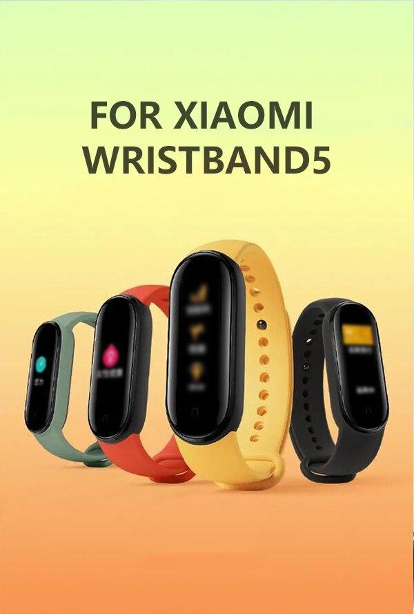 Pulsera deportiva para Xiaomi Mi Band 5, repuesto de pulsera Multicolor de silicona para reloj Xiaomi Mi Band 5
