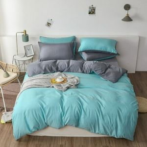 Duvet Cover Oversized Pure Color Double Cotton Sheets Home Textile Bedding Set  Bedding Set King Size High Quality Sleeping Well