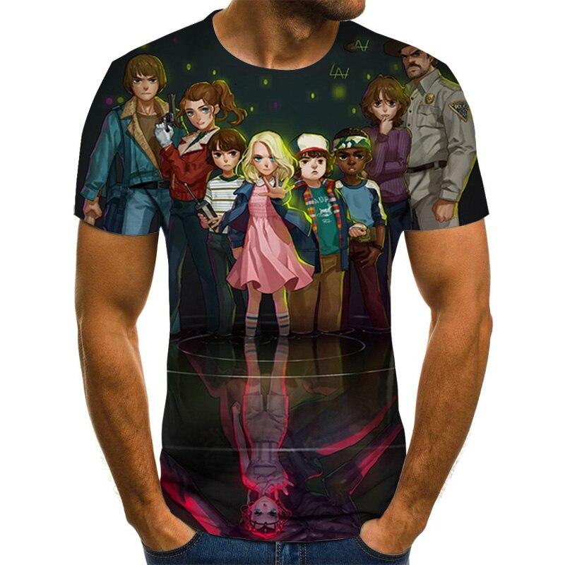 Nueva camiseta 3D de harajuku con dibujos animados para hombres y mujeres, camiseta Casual de manga corta con cuello redondo de moda, camiseta estampada para hombres, camisetas gráficas