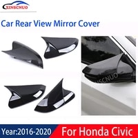 xinscnuo car rear view mirror cover 1 pair for honda civic 2016 2017 2018 2019 2020 mirror covers caps replacement