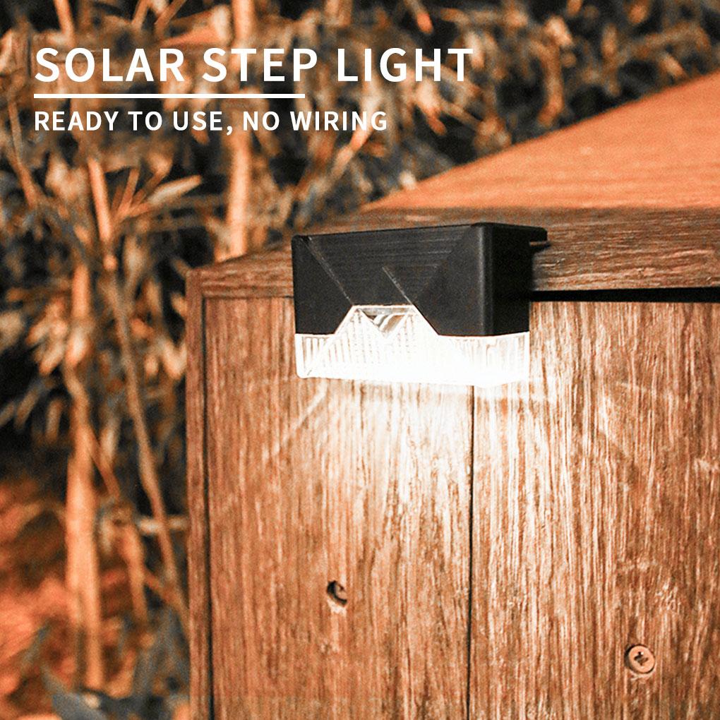 Светодиодный солнечный светильник путь лестницы на открытом воздухе Водонепроницаемый настенный светильник сада Ландшафтный шаг палубе с...