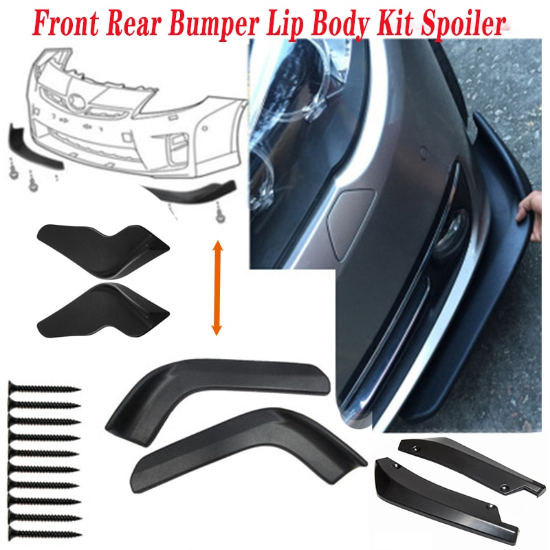 2pcs SUV Sedan Car Spoiler Bumper Wrap Angle For Seat Leon Lbiza Skoda Octavia a5 A7 2 Rapid Kodiaq Hyundai Accent Solaris