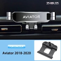 car mobile phone holder air vent mounts stand gps gravity navigation bracket for lincoln aviator 2018 2019 2020 car accessories
