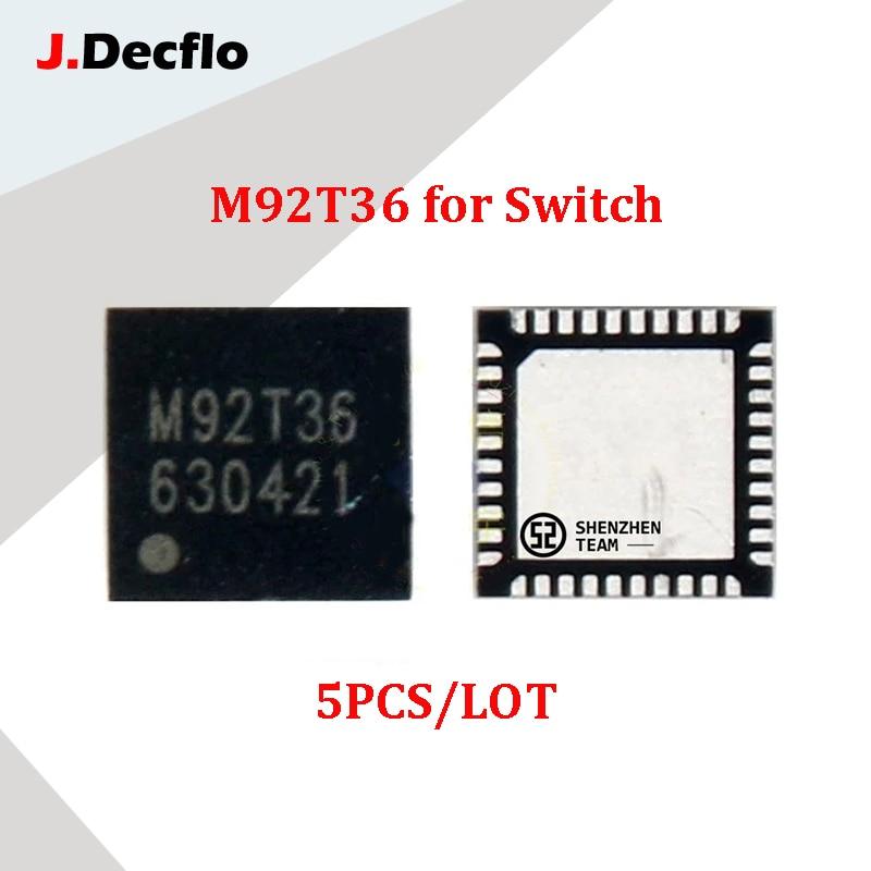 JDecflo 5 قطعة/الوحدة الأصلي جديد M92T36 الطاقة IC بطارية شحن IC رقائق ل نينتندو التبديل NS لعبة وحدة التحكم اللوحة إصلاح
