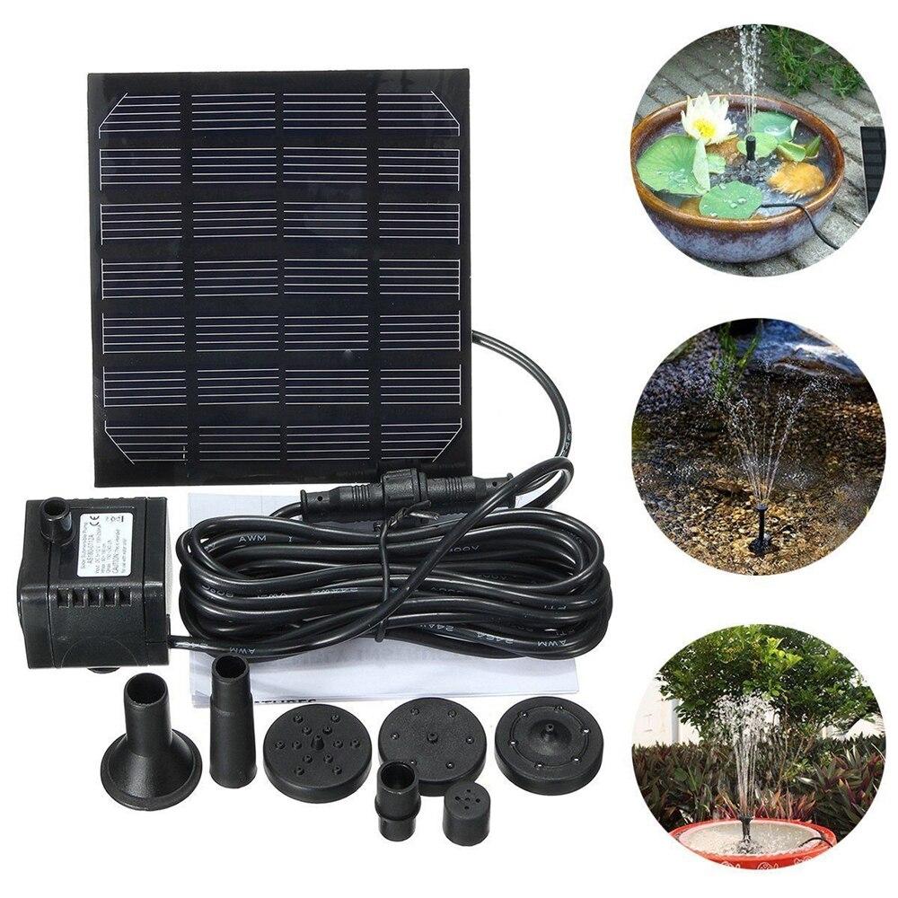 7v 1.5w solar bomba de água fonte jardim flutuante plantas rega fontes de energia piscina casa jardim peixes lagoa waterpump