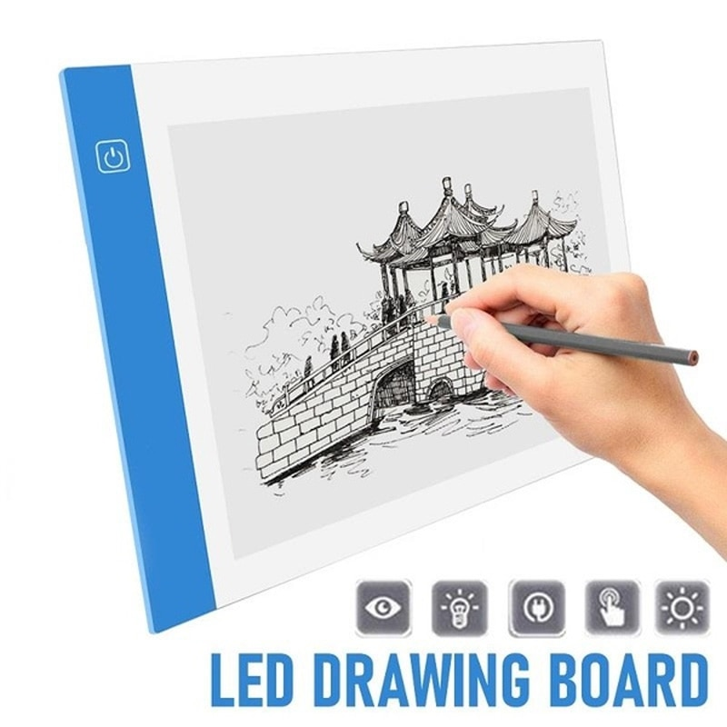 A3 A4/A5 Size Three Level Dimmable Led Light Pad Tablet Eye Protection Easier For Diamond Painting Embroidery Tools Accessories