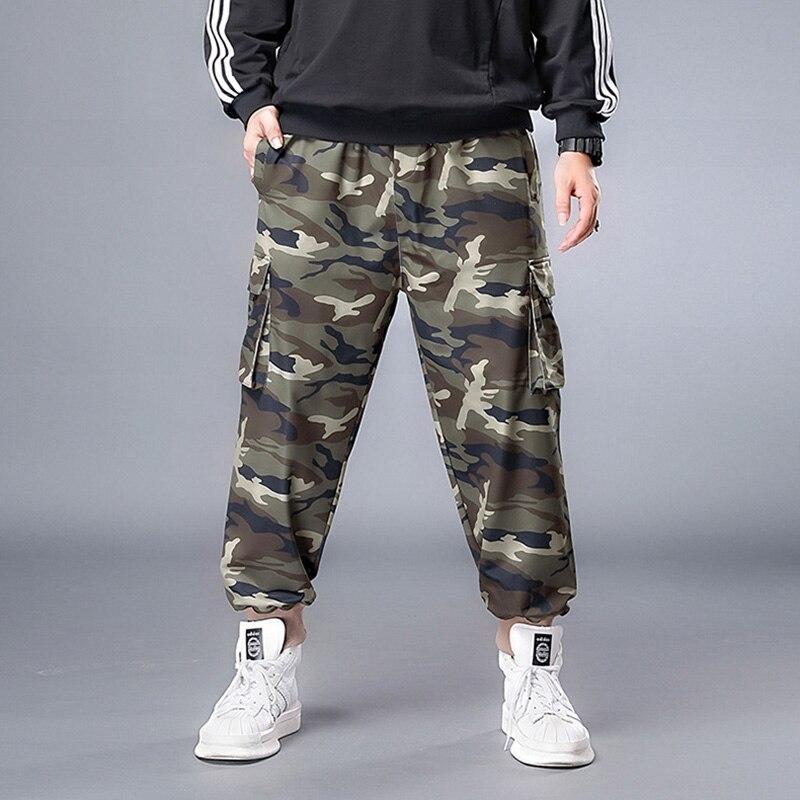 Джоггеры мужские с множеством карманов, уличные длинные брюки-карго в стиле милитари, армейские камуфляжные мешковатые штаны, большие разм...
