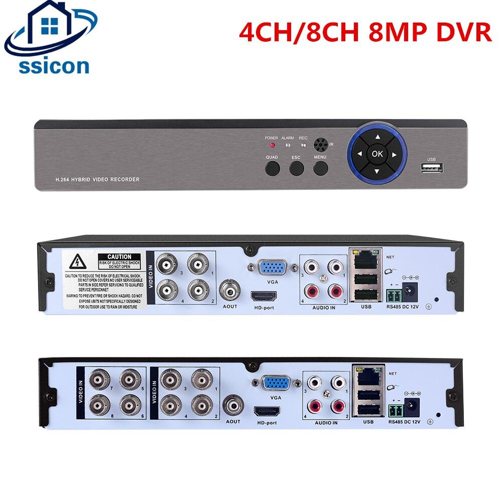 4CH 8CH 8MP AHD DVR Hybaird NVR Xmeye APP Metal Case AHD Camera 4K Video Recorder For 8MP AHD CVI TVI CVBS CCTV Camera