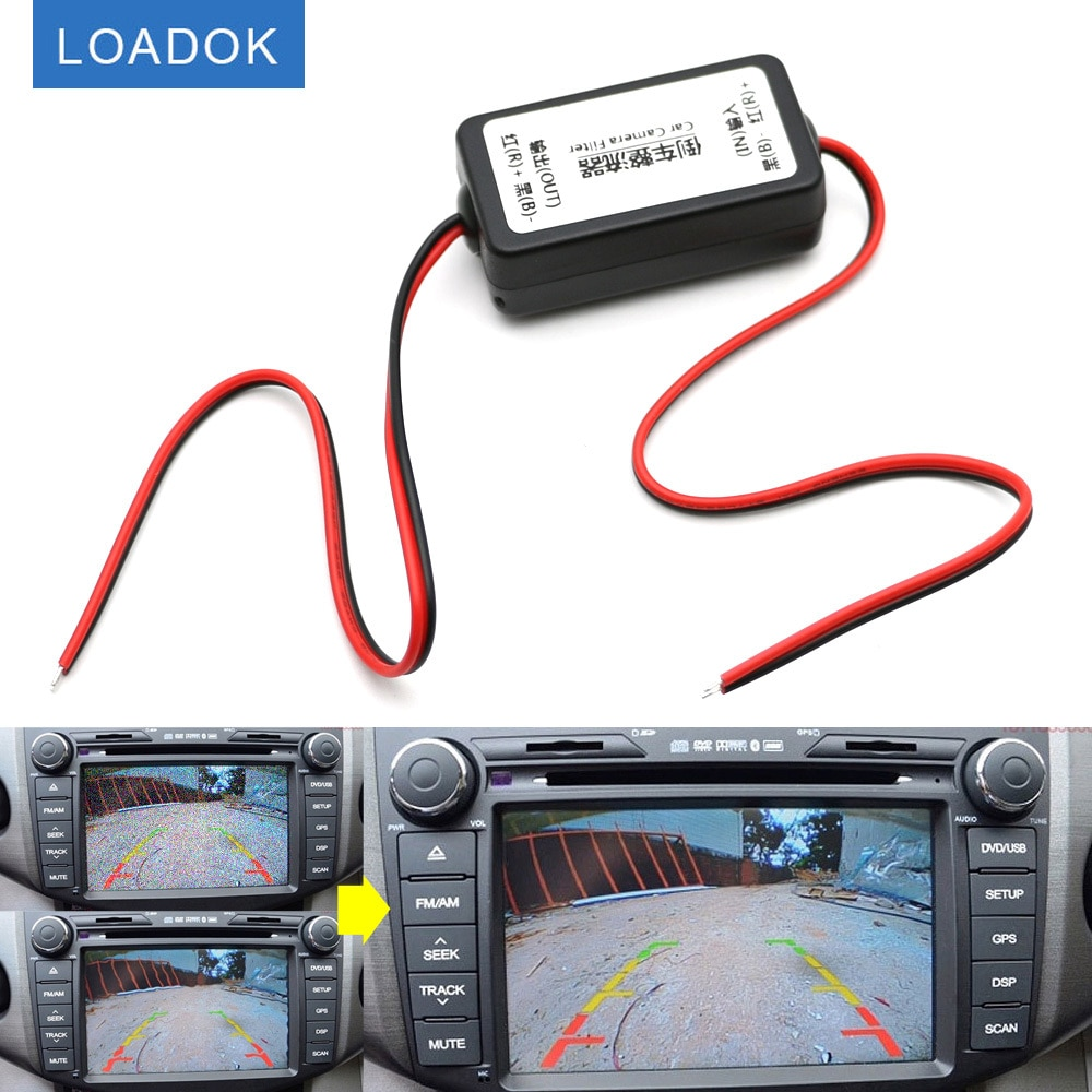 Реле питания постоянного тока 12 В, конденсатор с фильтром постоянного тока, коннектор, выпрямитель для камеры заднего вида автомобиля, аксе...