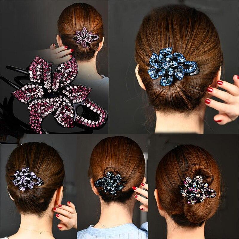 Корейские стразы набор заколок для волос Зажимы женский элегантный утконоса клип заколки для волос заколка для волос, модные аксессуары для волос Головные уборы        АлиЭкспресс