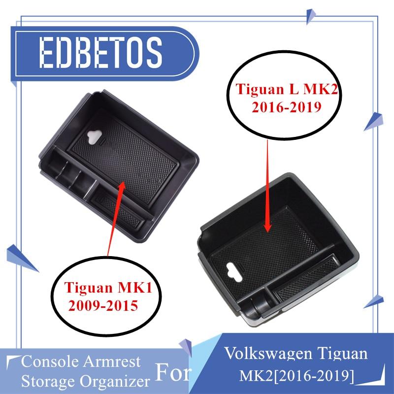 Nuevo reposabrazos almacenaje para guantes caja para Volkswagen V W Tiguan 2009, 2010, 2011, 2012, 2013, 2014, 2015 Tiguan accesorios consola organizador