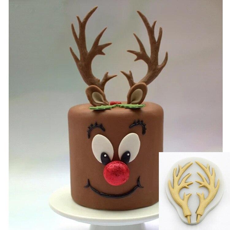 Luyou 1pcs deer lace silicone mold cake molds cake decorating tools fondant chocolate gumpaste mold FM1913