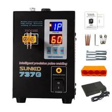 SUNKKO 737G batterie soudeuse par points 1.5KW LED impulsion 18650 batterie au lithium soudeuse par points soudage maximum 0.2mm nickel ceinture broche