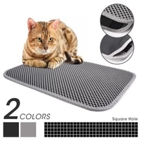 pet cat litter mat double layer waterproof litter cat bed pads for cats house clean super light easy to carry smooth surface