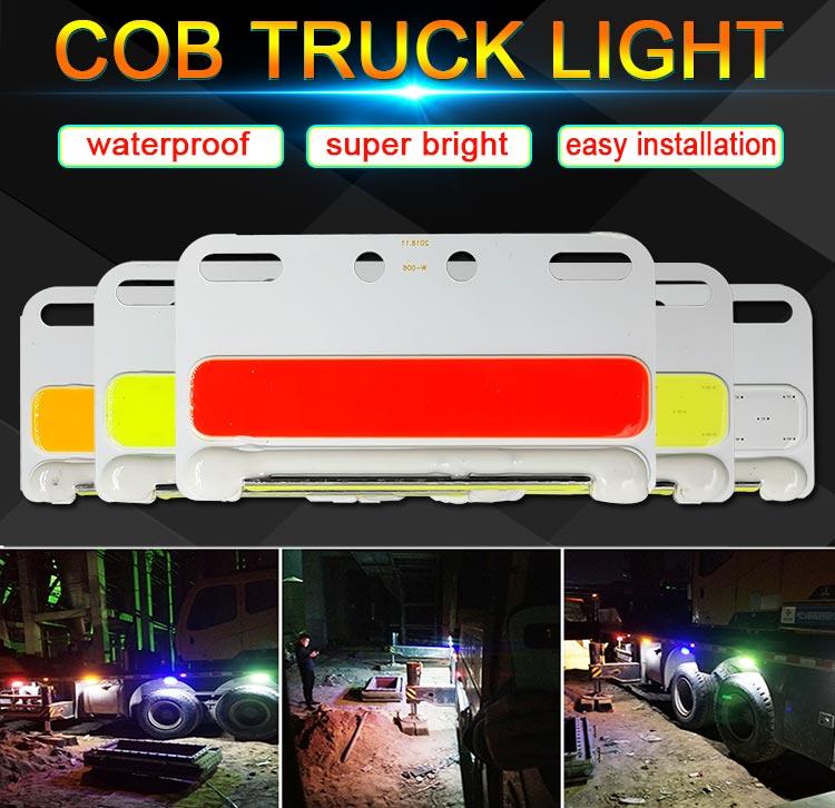 Luces COB de 24V para camiones, lámpara de giro, blanco, amarillo, verde, azul, rojo, 24 V, bombilla LED para decoración de camiones, lámparas de señal, luz de camión
