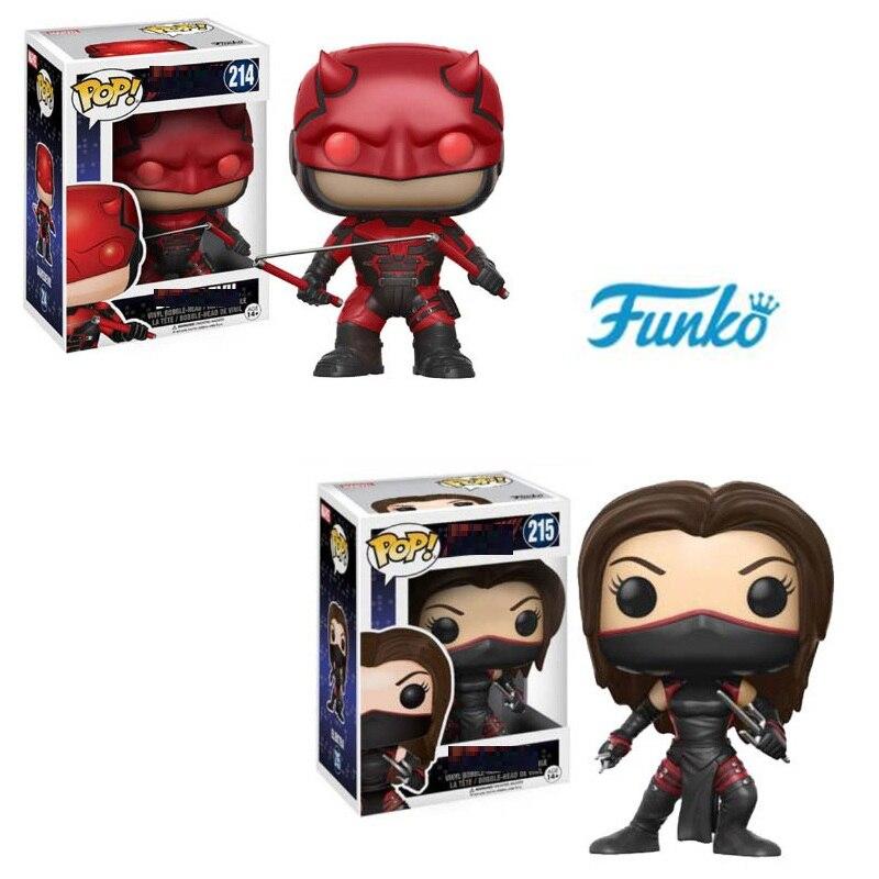 FUNKO POP The Daredevil 214# pvc Action Figure Doll,children fans birthday Gift Toy