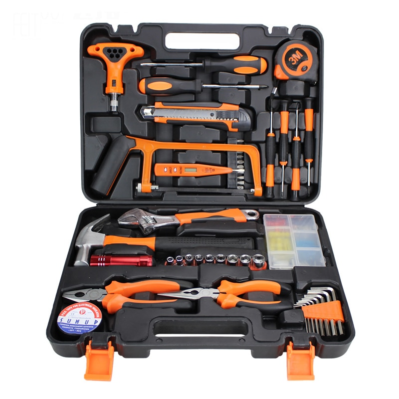 46PCS Home Repair Manufacturers Selling Practical Toolbox Household Hardware Hand Kits Combination Suit Maintenance Tools Set enlarge