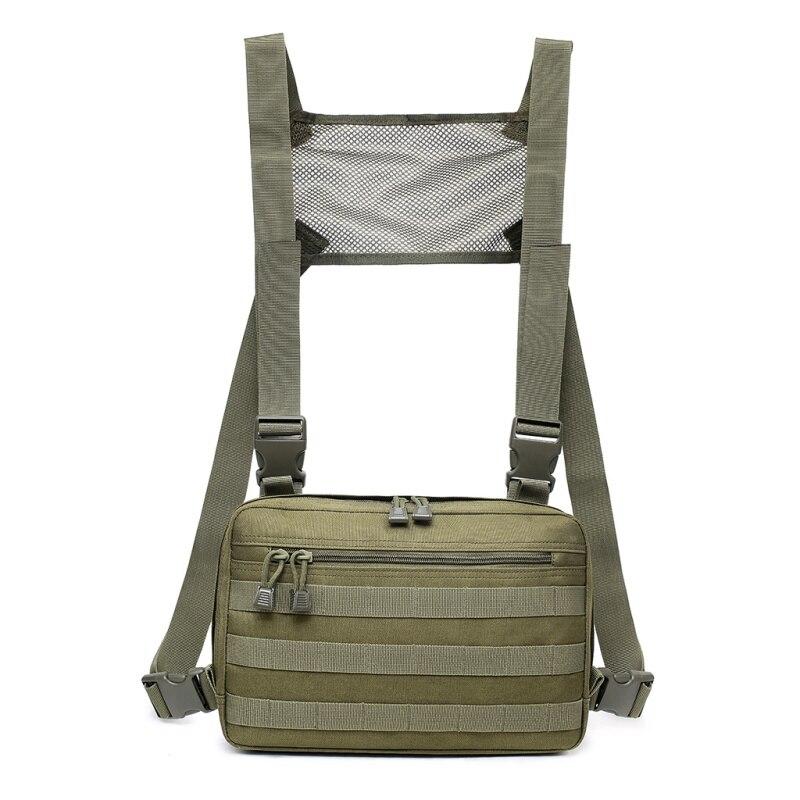 Saco de peito tático militar equipamento no peito pacote de cintura molle edc bolsa homens hip hop streetwear ombro saco esportes ao ar livre caça sacos