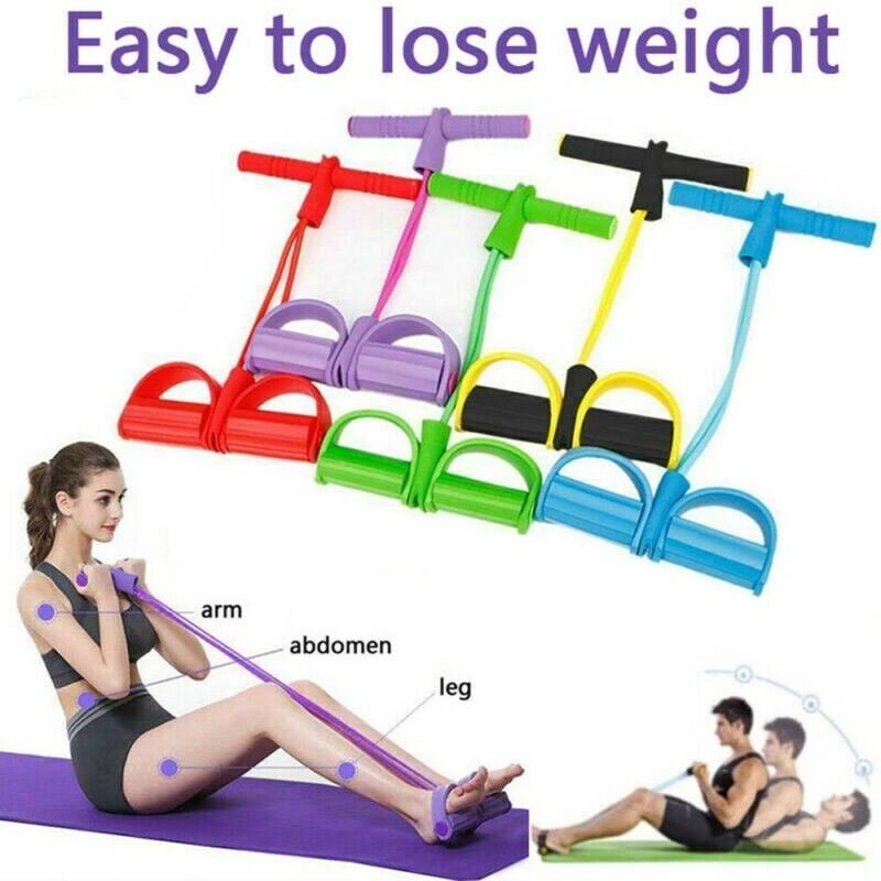 Pé pedal puxar corda fitness exercício resistência banda equipamentos de yoga sit-up eua multifuncional puxar corda pedal exercitador