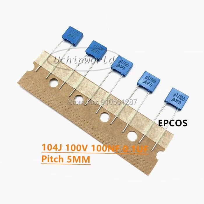 334J 102J 103J 104J 153J 222J 223J 333J 332J 472J 100V 63V de Alta qualidade original azul Correção capacitor 1NF 47NF 0.47/0.1UF