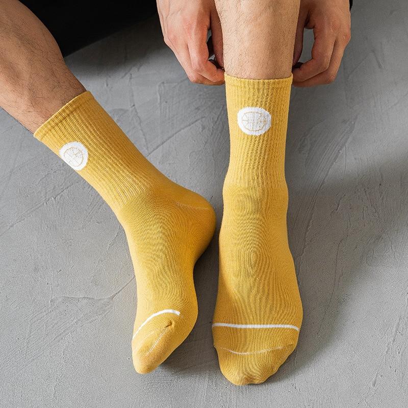 Носки до середины икры, мужские спортивные носки, весенние и осенние мужские носки с надписью High верхние чулки Spot, оптовая продажа, мужские н...