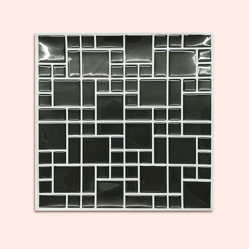 باكسبلاش-بلاط فسيفساء ذاتي اللصق للحائط ، ملصق تزيين المنزل ، الحمام ، المطبخ ، لون الفينيل ، مختلط (20 قطعة)