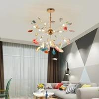 home decoration modern chandelier agate piece colorful chandelier for bedroom living room decoration led interior lighting