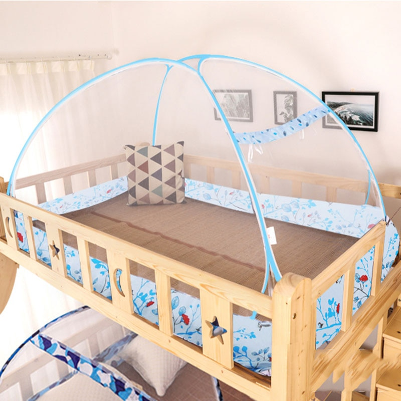 Mosquitera para niños, cama con mosquitera, puerta de la cama, yurta mongola mosquitera, mosquitera, cortina para cama, tienda, dosel de malla 1P