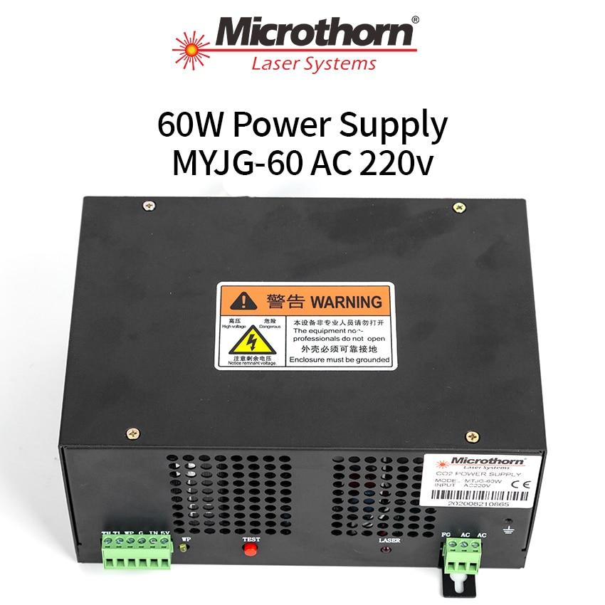 001 MTJG 60 واط CO2 ليزر امدادات الطاقة 143*208*97 مللي متر لآلة قطع النقش بجودة عالية وسعر المصنع